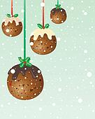 christmas pudding baubles
