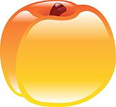 shiny peach fruit icon