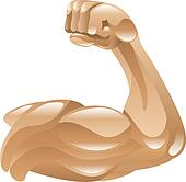 Strong muscle arm icon