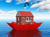 Real estate insurance concept