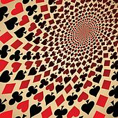 Playing cards. Op art