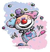 Clown Juggling - Baby Colors