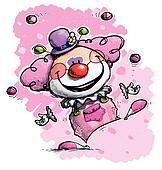 Clown Juggling - Girl Colors