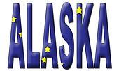 Alaska Text in Flag
