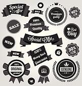 Black and White Vector Stickers Lab