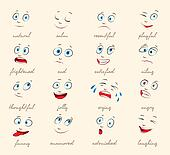Emotions. Cartoon facial expression