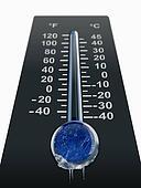 freezing cold temperature