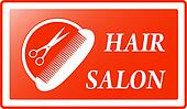 background for hair salon sign