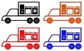 household appliances delivery symbo