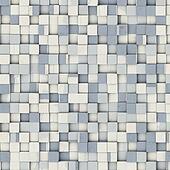 grunge tile mosaic pattern backdrop in blue white