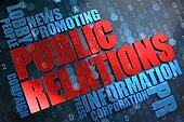 Public Relations. Wordcloud Concept.