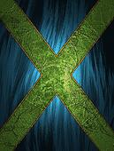 Blue Background with a green cross in the middle.