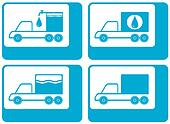 truck silhouette cargo water carter