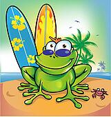 happy summer frog