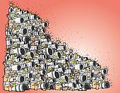 Paparazzi cartoon No.3 (huge composition)
