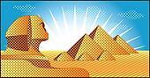 Egyptian pyramids at Giza and the Sphinx