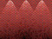 shined red old brick wall