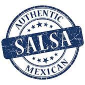 Salsa blue grunge stamp