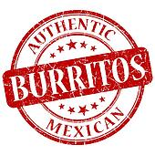 burritos red grunge stamp