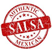 salsa red grunge stamp