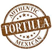 tortilla brown grunge stamp