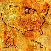 minnesota on map of usa