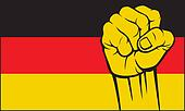 germany fist (flag of germany)
