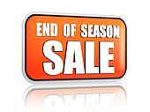 end of season sale orange banner