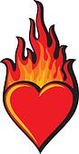 flaming heart (heart in flame)