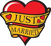 Just married design (heart)