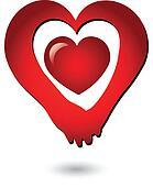Holding hands of love logo