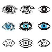 human eye icons set