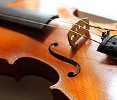 Close up shot of a violin