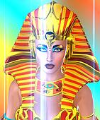 Face of pharaoh queen.