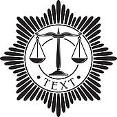 scales of justice badge