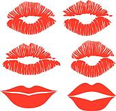 color vector kiss lips