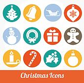 Christmas and Winter icons vector