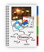 Notepad financial concept
