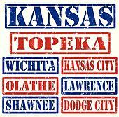 Kansas Cities stamps