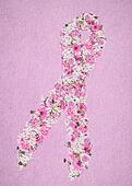 pink floral ribbon