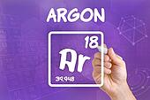 Symbol for the chemical element argon