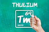 Symbol for the chemical element thulium