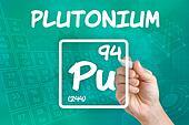 Symbol for the chemical element plutonium