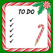 Holiday To Do List