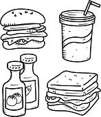 set of junkfood icon