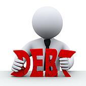 3d person debt free concept