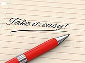 3d pen writing take it easy on paper