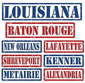 Louisiana Cities stamps