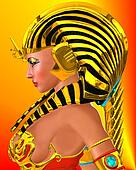 A goddess for Egypt, close up.