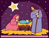 Baby Jesus in a manger 2